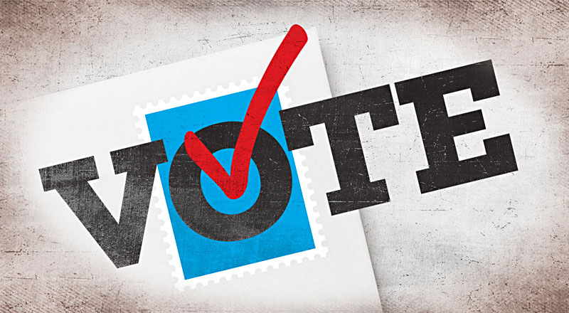 Reminder: Ballots must be received tonight by 5 p.m. to be counted.
