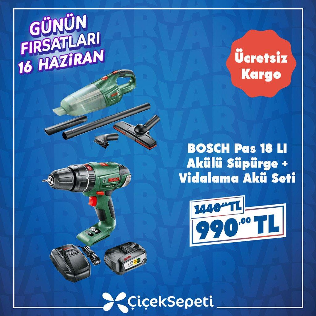 """Araba temizliği babalardan sorulur! 😊Bugüne özel """"Bosch Pas 18'li Akülü Süpürge ve Vidalama Akü Seti"""" 990TL!  https://t.co/fsSI21qoCm https://t.co/fh9hZfWrIl"""