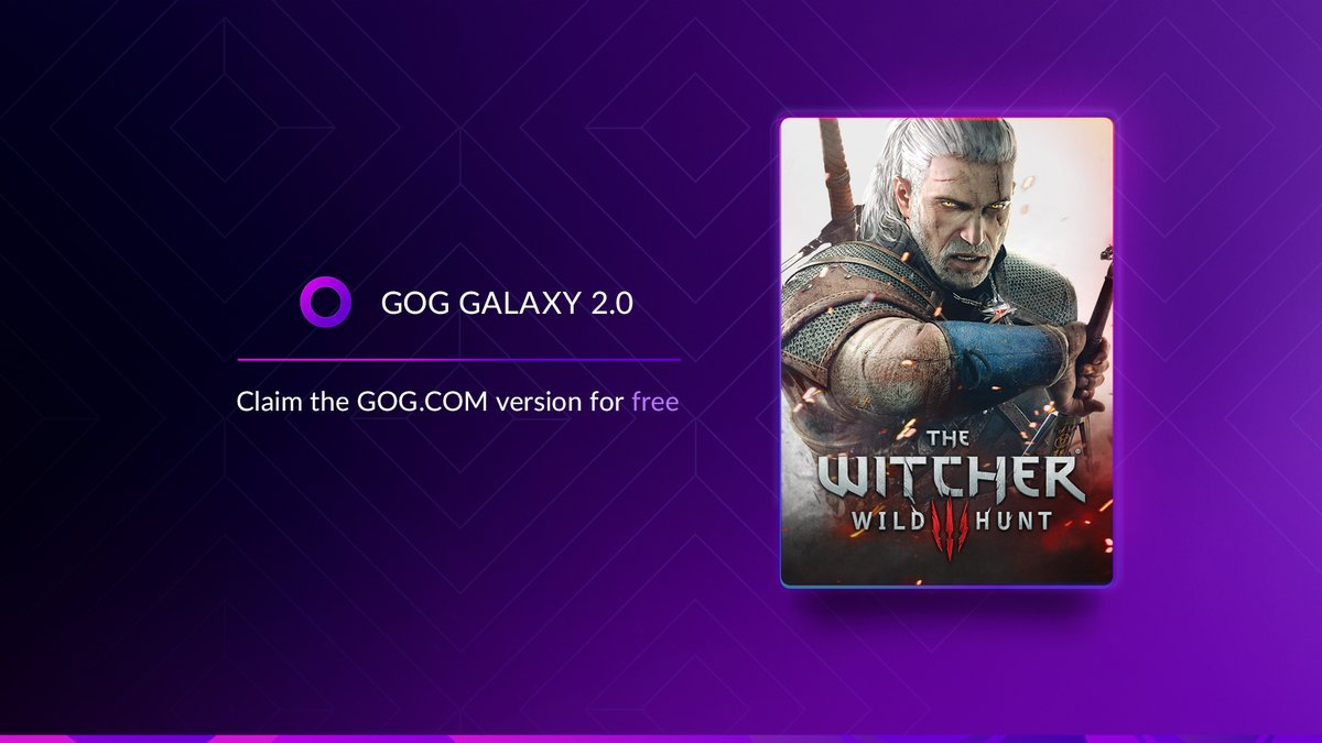 Claim a copy of The Witcher 3: Wild Hunt for free via @GOGGalaxy if you own it on another platform!   Download the app, connect your platforms and get the @GOGcom version of the game in your library 👉 https://t.co/y6pYR1fgpD   Offer valid until June 23rd. https://t.co/yqXlE1mFkG
