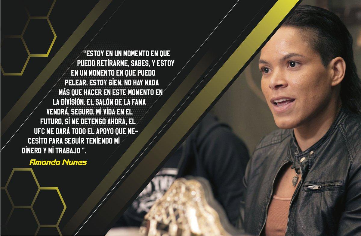 """#UFC  La doble campeona de la franquicia en pluma y gallo, #AmandaNunes, dijo las siguientes declaraciones a """"Esporte Espetacular"""", programa brasileño, luego de su victoria sobre #FeliciaSpencer en #UFC251. https://t.co/OEjkmNKI59"""