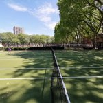 Image for the Tweet beginning: Some socially distanced tennis with
