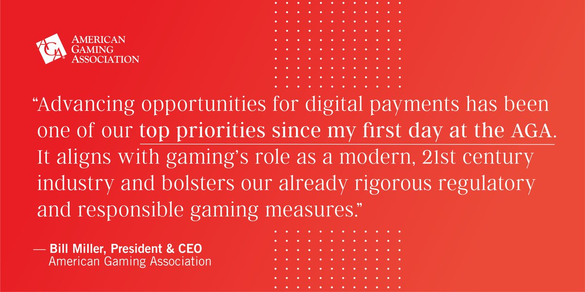 .@AmericanGaming released their new Payments Modernization Policy Principles that provides a framework for digital payments on the casino floor allowing bettors to supplement cash with safe and secure digital payments. Learn what this entails here: https://t.co/DiMXjYqTUz.