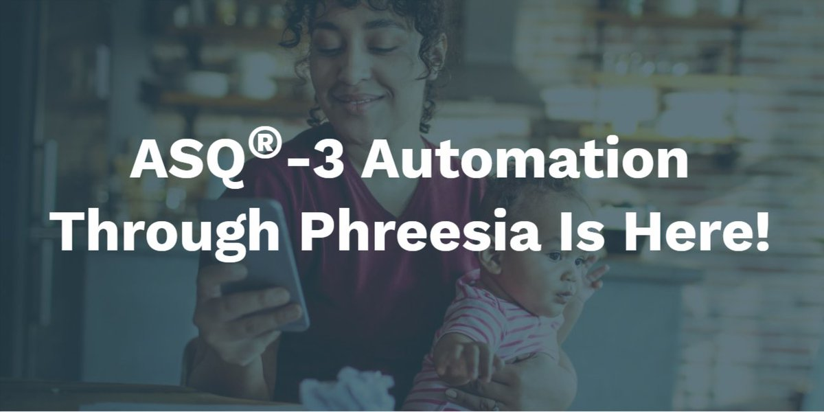 Phreesia now offers ASQ®-3! Learn more about how your practice can automatically administer this key pediatric developmental screening tool through our intake platform: https://t.co/c7QQyaEQN5 @BrookesASQ https://t.co/8NlUEswDao