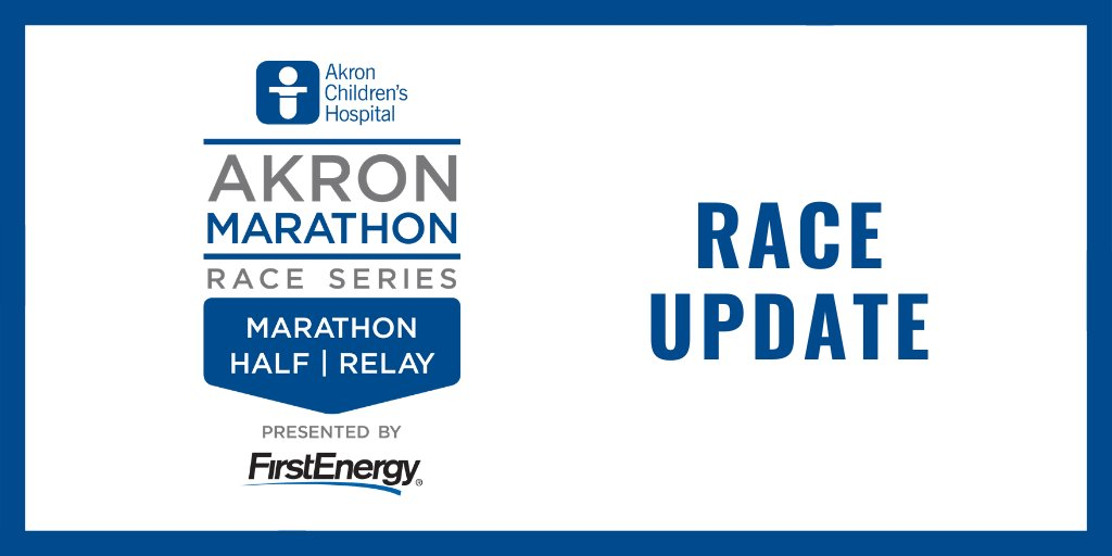 Our Board of Directors & staff have made the difficult decision to announce that the @firstenergycorp @AkronMarathon, Half Marathon & Team Relay, & race weekend events including the Health & Fitness Expo & the Kids Fun Run scheduled for Sept. 25-26, will be held virtually. https://t.co/uUcThfeUKl