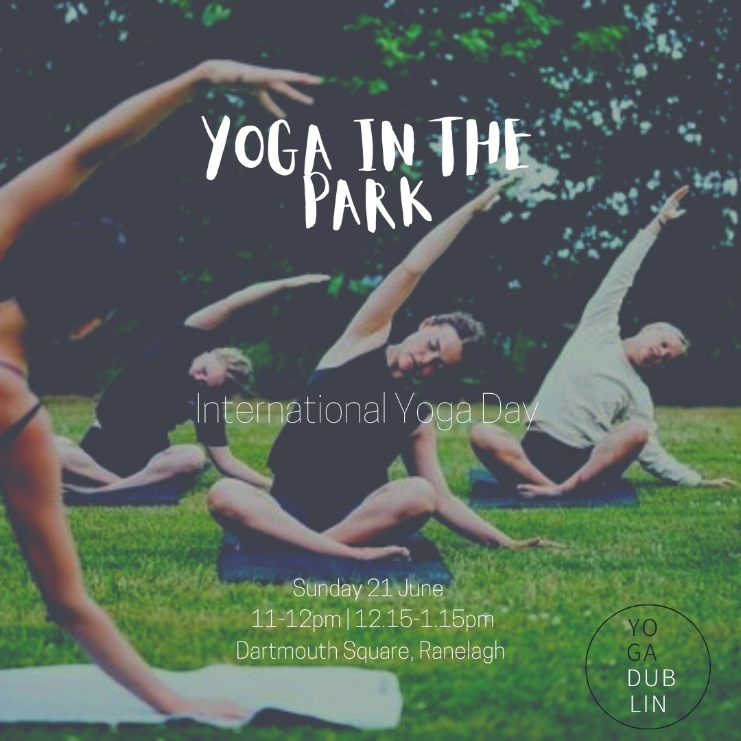 Nature is calling! Yoga in the PARK is back for the Summer 🌿 Join us this Sunday 21 June for our first class outside, where we will celebrate International Yoga Day with @amycharlieyogi ! A day where we come together to raise awareness of the many benefits of practicing yoga 🙏🏽 https://t.co/hNMzvrAsSJ
