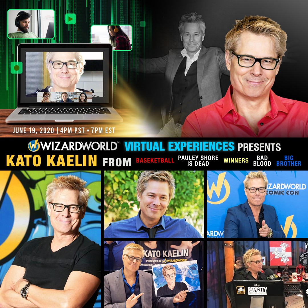 Join @Kato_Kaelin for a FREE live Q&A, videos & more!  Attend virtually FRI JUNE 19 @ 4pm PT / 7pm ET  http://wizardworldvirtual.com June 19 2020 #WizardWorld #WizardWorldVirtualExperiences #KatoVirtualExperiences #KatoKaelin pic.twitter.com/s5Eemto1sz