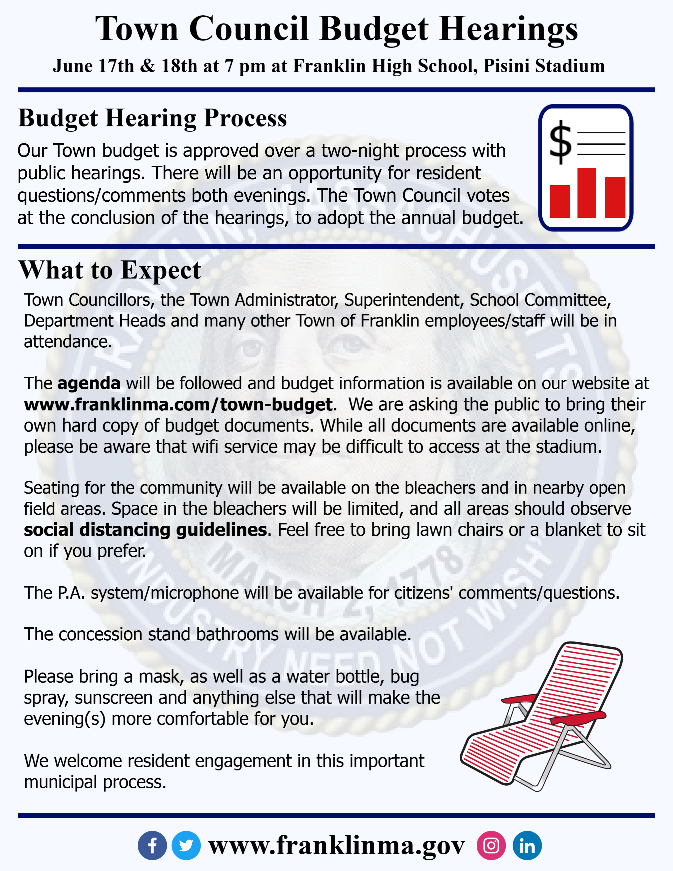 Town Council Budget Hearings - Jun 17-18