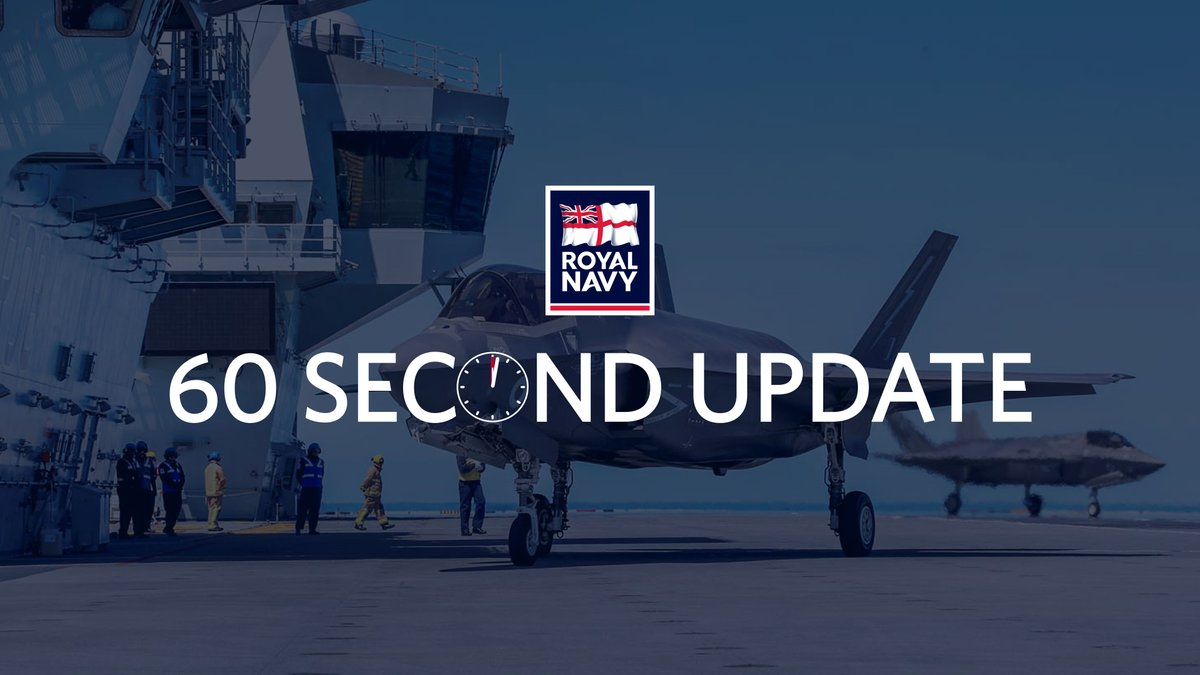 🎥 This week's 60-second update includes @HMS_Medway's work in the Caribbean, @HMSQNLZ's latest, @HMSChiddingfold and @HMSPenzance heading for the Gulf and a happy birthday to @HMSLedbury. 🔗 Read more: royalnavy.mod.uk/60secondupdate