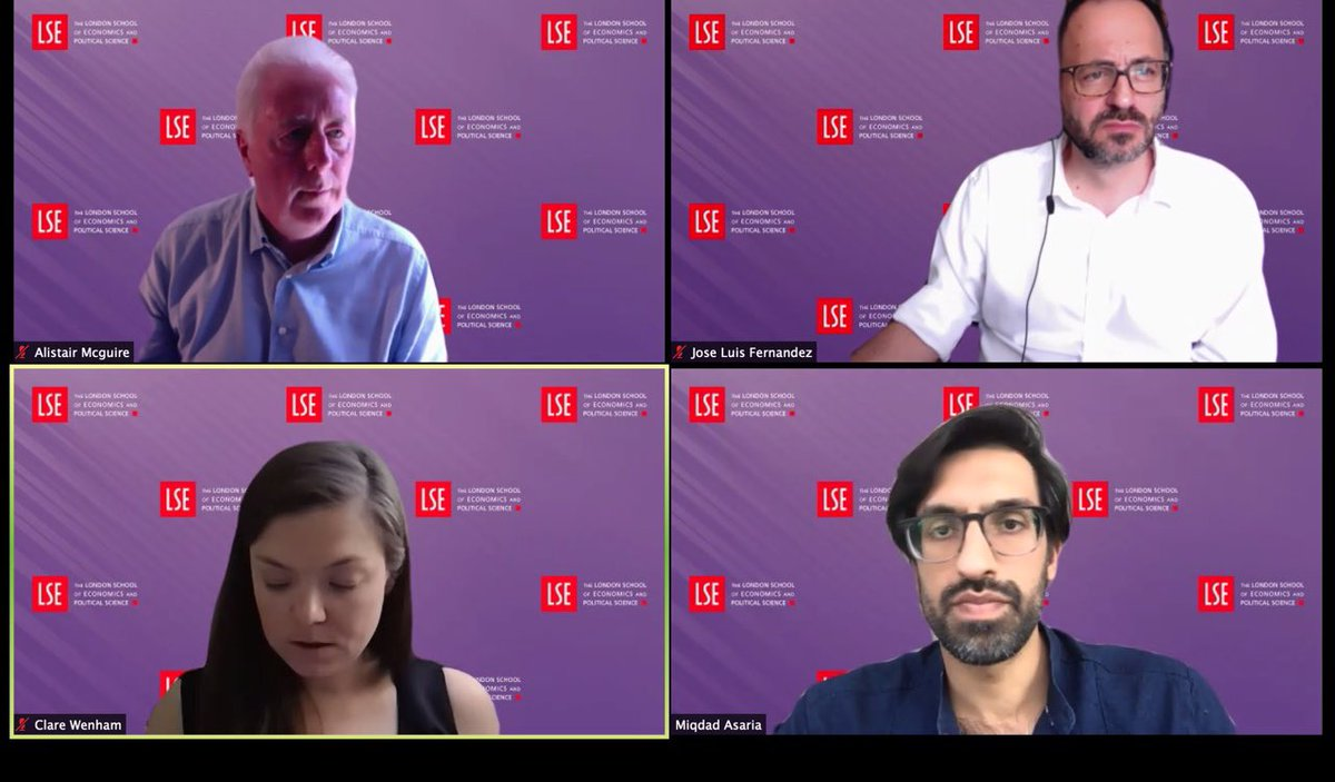 Thanks to the @LSEHealthPolicy department for the insightful webinar! #LSECOVID19