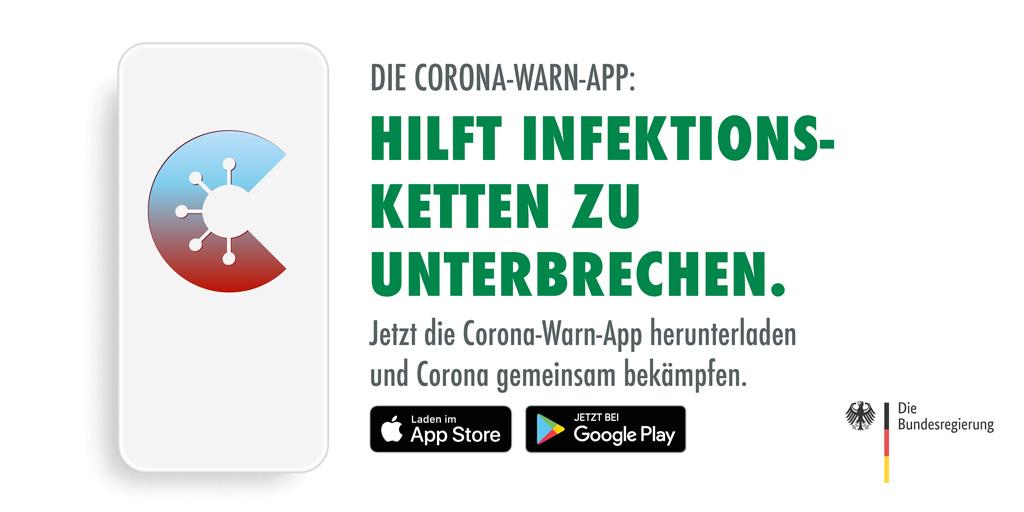 Die Corona-Warn-App: Hilft Infektionsketten zu unterbrechen. https://t.co/ys6ZyoTu27