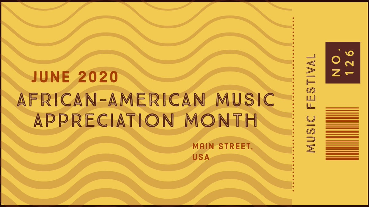 June is African-American Music Appreciation Month. A celebration of African-American music in the United States. Listen on your favorite music streaming service. #MilneLibrary #FraserLibrary #geneseo https://t.co/xFch10p1dL