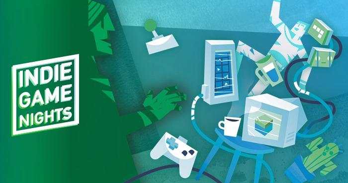 🐙 J-1 🎮  Suivez l'Indie Game Night #12 diffusée demain en live sur la page Facebook du @Shadok_eu et sur Twitch.  Rendez-vous à 19h30 pour discuter de la création vidéoludique.  https://t.co/NmdmhHvFg7 https://t.co/LMD8vGHZB8