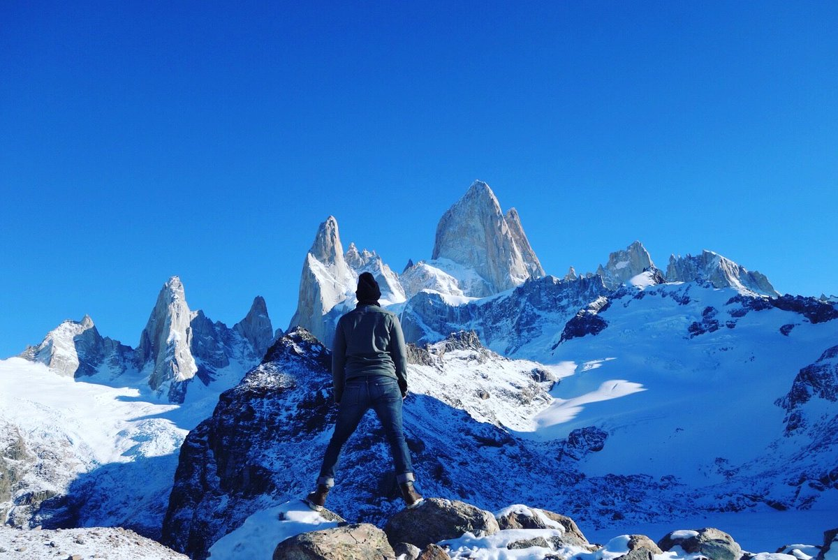 Two years ago today we hiked 13 miles to Mount Fitz Roy in Patagonia