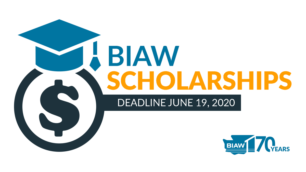It's not too late to apply for a BIAW scholarship! If you're applying to go into a construction industry-related field of study, fill out BIAW's scholarship form today! https://biaw.com/PDFs/Programs/scholarship_app_20_fillable.pdf… #scholarship #education #skilledtraining #BIAWBuildingFuturespic.twitter.com/jBkLejbP51