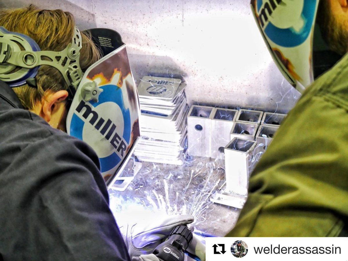 As a father, it is rewarding to know your child has interest in welding. With little direction, 15-year-old Aidan gains first-hand experience on proper safety wear and technique. Way to go, Dad! #MillerWelders #weldingsafety   Thank you for 📸 this bonding moment @welderassassin https://t.co/vwIzc2rQOv