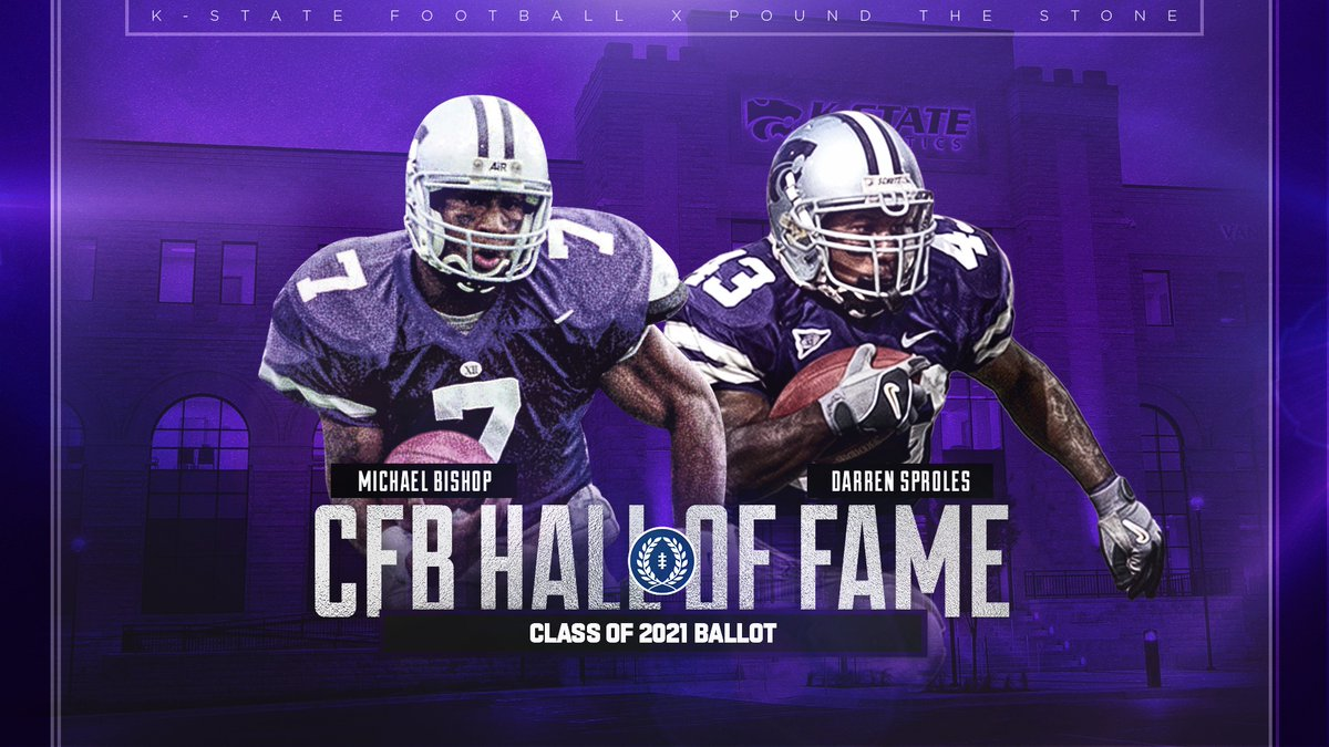 Congrats to @QBMPB7 and @DarrenSproles on being named to the 2021 @cfbhall ballot 📄 k-st.at/2N5qtLr #KStateFB ⚒ @NFFNetwork