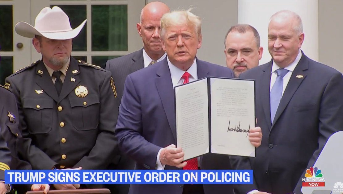 Trump's Police pep-rally. Yep looks like change to me  #TrumpPressConference @ProjectLincoln #TrumpDeathToll100K #aids<br>http://pic.twitter.com/4Hxy0ChgZH