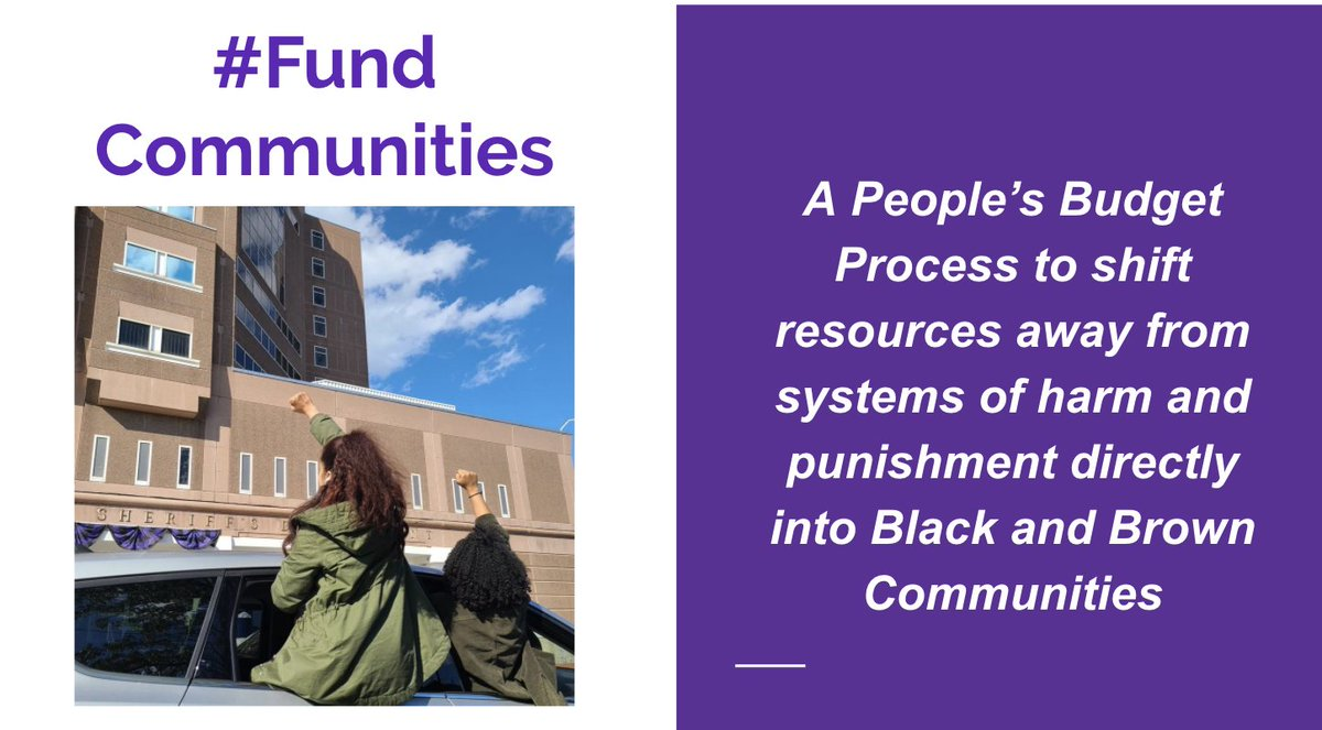 What do we mean when we say #DefundPolice? #FundCommunities