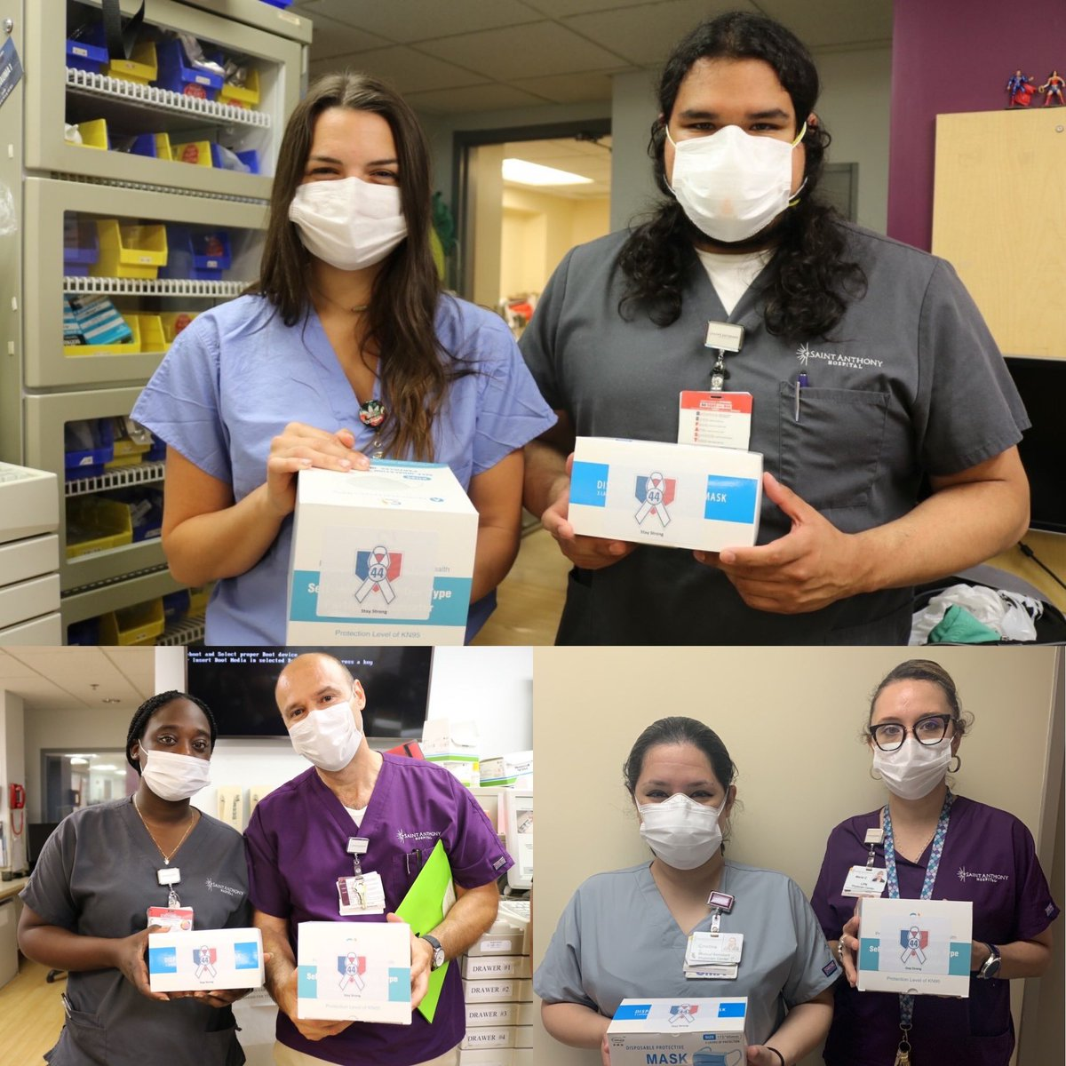We are proud to support Saint Anthonys with the delivery of KN95 and 3 ply surgical masks. Saint Anthony Hospital is an independent, nonprofit hospital serving the West Side and Southwest Side of Chicago. Thank you for all the work you are doing to keep our loved ones safe. ❤️