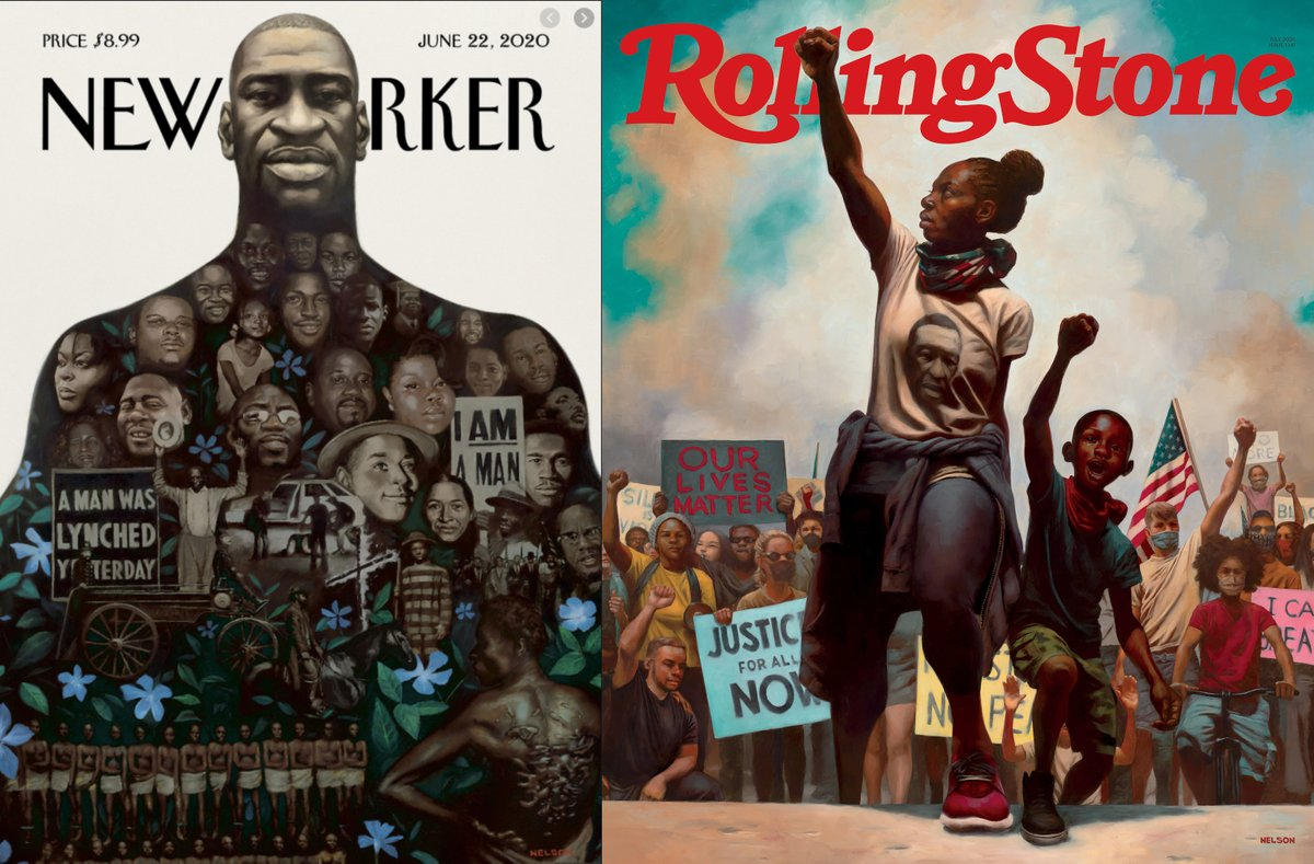 Gus Silber On Twitter The Brilliant American Artist Kadir Nelson Has Produced Two Of The Most Powerful Covers In Magazine Publishing History In The Same Week For The New Yorker Https T Co Wqvo33pwav And