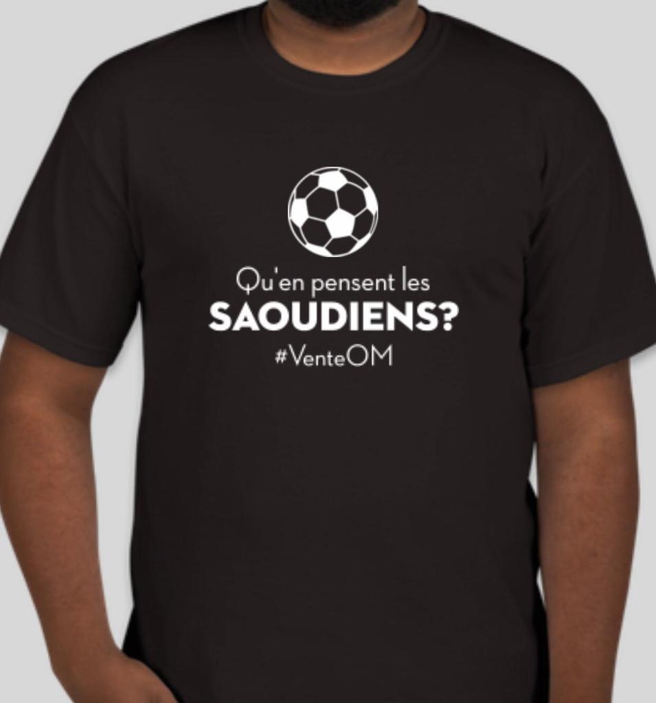 Comme promis les amis...  Pour gagner ce magnifique t-shirt : Qu'en pensent les Saoudiens ? #VenteOM  - RT ce tweet + Follow @Goaldorak  Le tirage au sort sera effectué quand le club sera vendu à Al Walou ! 🤑 https://t.co/xkmgRfq23T
