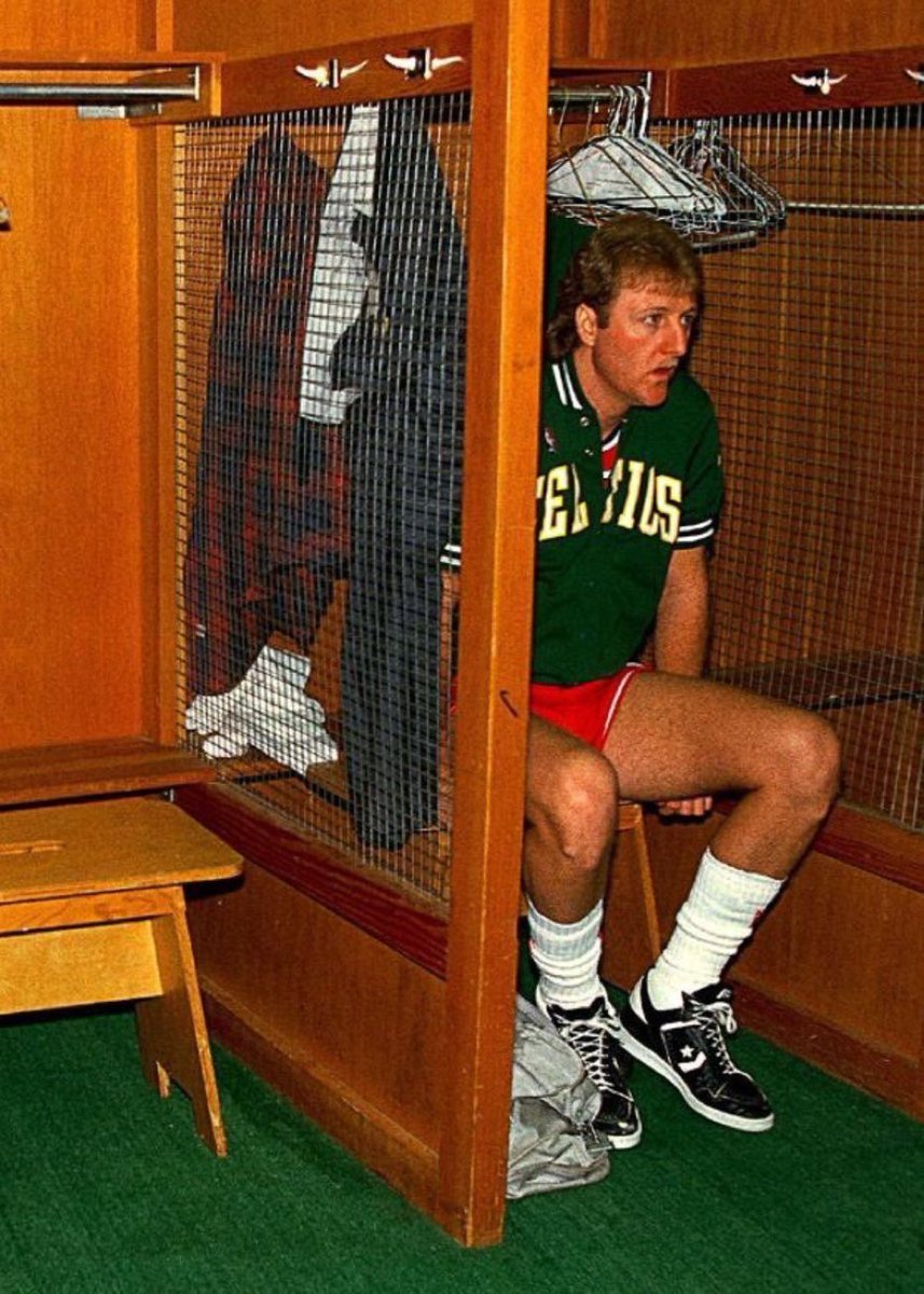 Once a month, Larry Bird would take confessions from those who had sinned against the game of basketball. https://t.co/PZLL6q7wS5