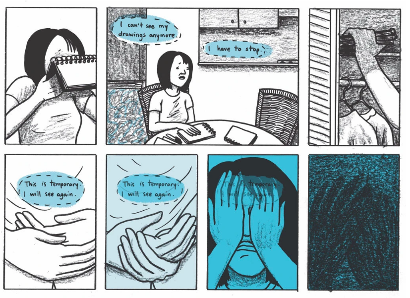 "Fantagraphics Books on Twitter: """"Across the book, images register both how  Chong is seen by the external world and how she feels, translating  sensation to the page..."" Dancing After Ten by Vivian"