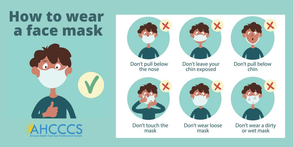 Help stop the spread by wearing a mask. Remember to wash your face mask after each use. #MaskUpAZ #COVID19 #AHCCCS