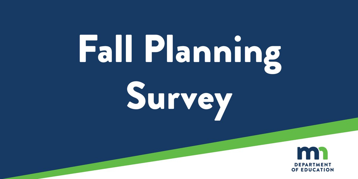 💻Our fall planning survey is open for one more week. We're looking for parent perspectives on what went well and what was challenging about the Distance Learning period this fall. Available in English, Hmong, Somali and Spanish. https://t.co/3m47x6jOdP https://t.co/tsoMMWzw0B