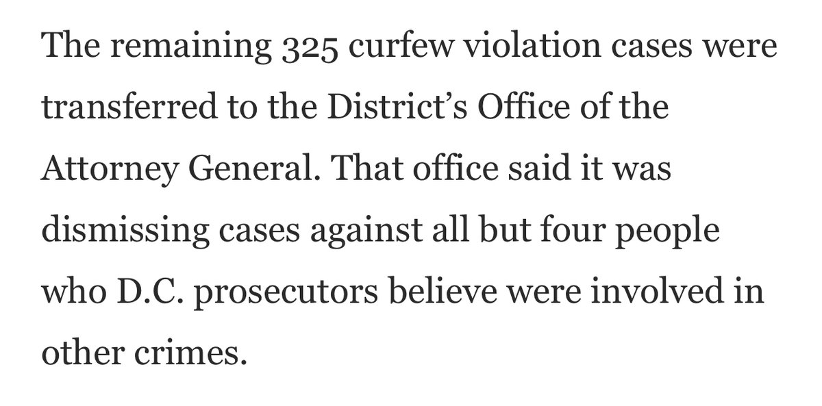 I missed this in WaPo on Sunday but kudos to @AGKarlRacine for dropping the overwhelming majority of charges for DC curfew violations. It begs the question why the arbitrary, violent and unconstitutional #SwannStreet arrests were made in the first place.  https://t.co/g5IQQGTMyH https://t.co/CDAVJ9yEI2