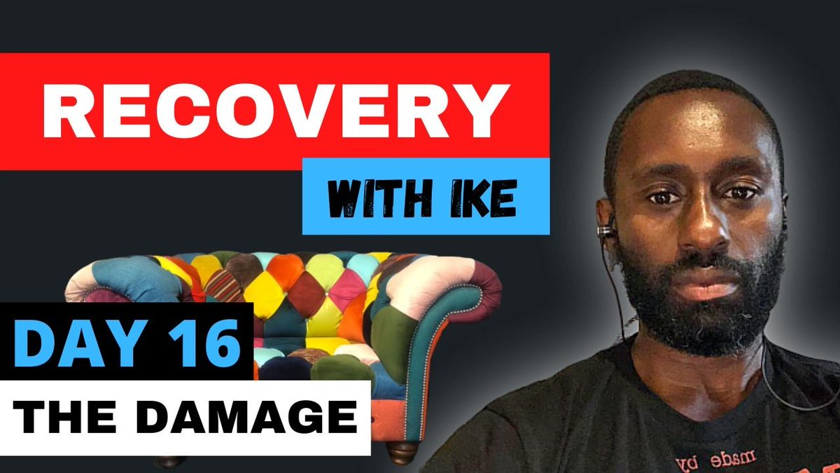 Day 16 - The Damage - #RecoveryWithIke.  #ChildOfGod #ChildOfGodTeam #ChildOfGodMovement #Recovery #Drugs #Alcohol #Gambling #Welcome #ThankYou #Blessed #Grateful #GodBless #GodsWill #Addiction #MyStory #MyJourney   https://t.co/b13f7fiJfh https://t.co/AAlmq7tGPz