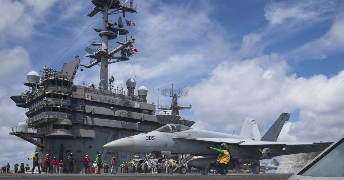 Three US Navy aircraft carriers are patrolling the Pacific Ocean