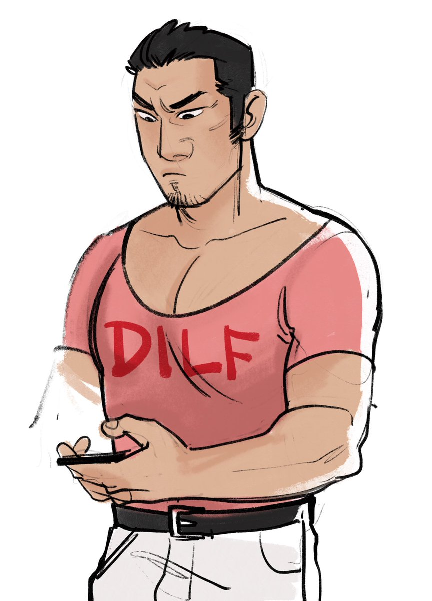 Vega On Twitter Majima Got Him The Shirt And He S Now Googling What Dilf Means I Felt Obligated To Draw Smth For Kiryu S Bday Bc Gemini Bros Https T Co Co2buyv008 (vulgar, slang, acronym) a (putative) father found sexually attractive. felt obligated to draw smth
