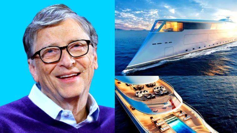 """Bill Gates Tidak Menghabiskan $ 645 Juta untuk Kapal Pesiar Ramah Lingkungan """"super-yacht AQUA"""" ini, benarkah ?"""