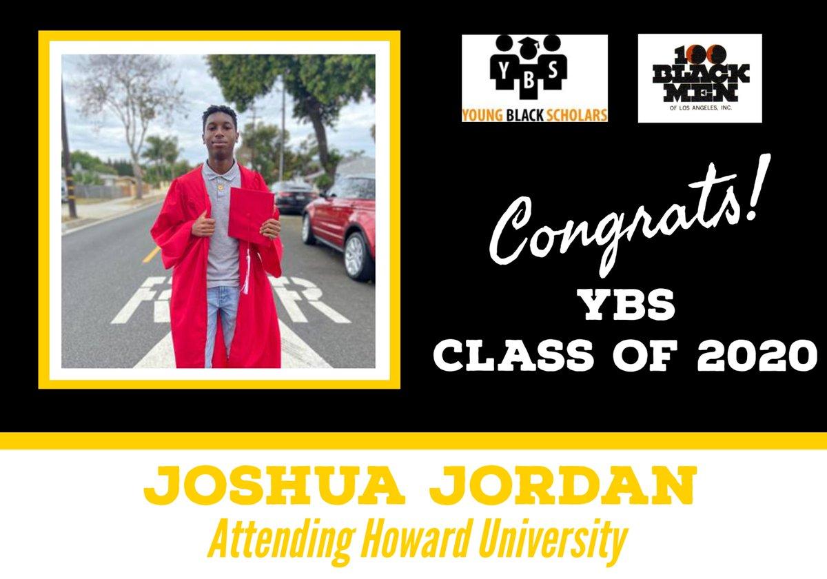 Meet Young Black Scholars' Class of 2020 Senior Joshua Jordan.  Joshua will be attending Howard University in the Fall.  Congratulations Joshua!  @100bmoa @100BlackMenLA #ybs #100blackmen #youngblackscholars #collegebound
