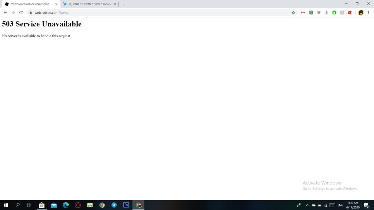 Roblox.comhome Chris On Twitter When Roblox Goes Down This Isn T Usually What Happens Is Something Going On I Don T Know About It S Been 2 Hours By The Way Https T Co Myjoz3rtx2