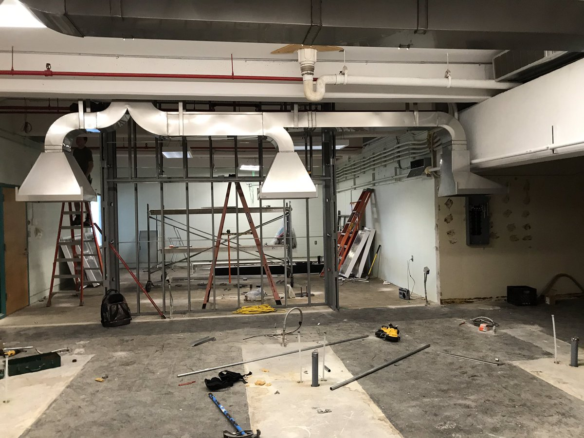 How exciting to see work begin on the renovations to the @AcadiaNutrition Food Commodities Lab. This is possible because of the generousity of an @acadia_alumni '41. The space sure looks different now than it did in action during the fall term - can't wait to see the results 🍎 ! https://t.co/zaW2E9DHza