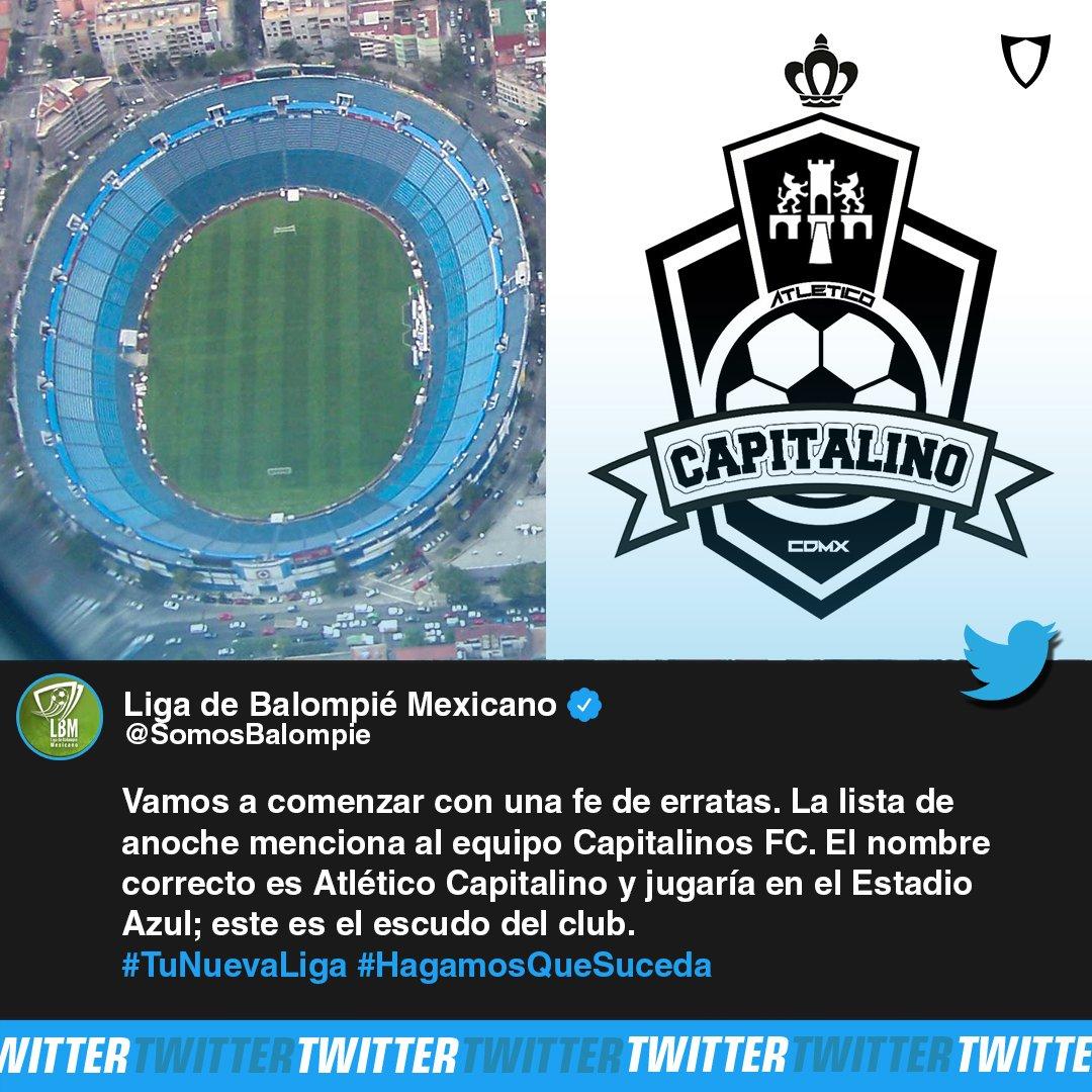 Fanbolero On Twitter Habria Nuevo Equipo En La Cdmx Atletico Capitalino Seria El Nuevo Inquilino Del Estadio Azul Jugaria En La Liga De Balompie Mexicano Cdmx Futbol Atleticocapitalino