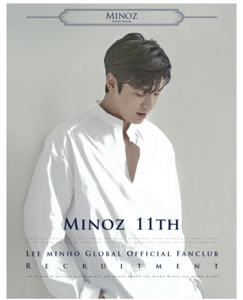 #LeeMinHo 11th Global Official Fanclub Recruitment — comes with a membership card and a special kit   KR: https://t.co/g4VAntfafT ENG: https://t.co/zUdK1i1TbI   #Minoz #이민호 #minomi https://t.co/jGf123WUzm