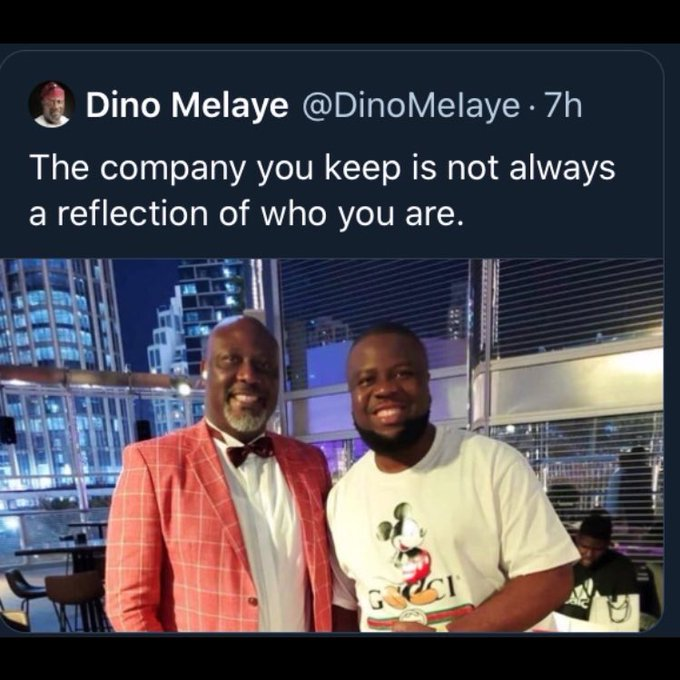 Photo of Senator Dino Melaye with Hushpuppi trends on social media