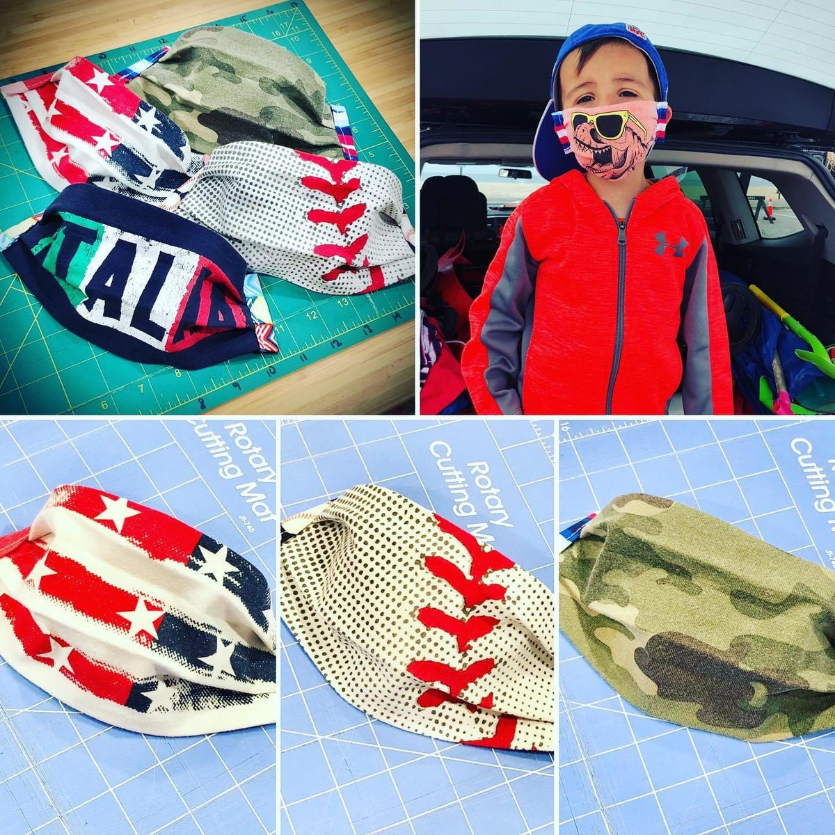 Vintage, one-of-a-kind #tshirt masks for the kiddos! 100% cotton, jersey knit, super soft and fitted to their tiny faces ☺️ and adjustable ear loops to boot, which means they'll fit big kids too!   Shop: https://t.co/mPj6FWeaT4…  #livevaccarously #etsy #wearamask 😷 https://t.co/D9A6stVvMu