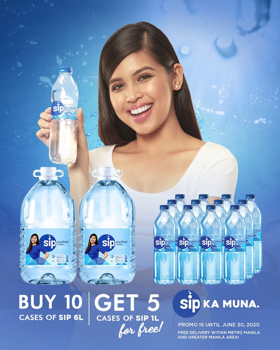 We are giving you a better hydration deal for our newest 6 Liters! Order 10 cases of 6L x 2 and get 5 cases of 1L x 12 for FREE (worth 1200) for only 1,500 pesos! Free delivery to Metro Manila and Greater Manila customers! Please PM us for orders. #SipKaMuna https://t.co/4ClXCZgVB5