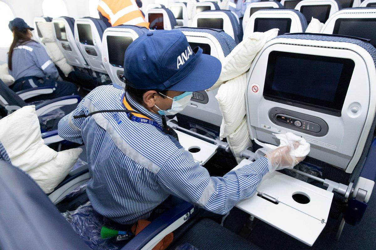 【ANA CARE PROMISE】 安全・快適にご利用いただけるよう、ANAグループでは、運航するすべての航空機を定期的に消毒しています。(国際線では毎便、国内線は毎日夜間に実施) また空港では、チェックイン機や車いすなどの機器、備品を定期的に消毒・除菌しています。 ⇒ana.ms/2AZhZCL