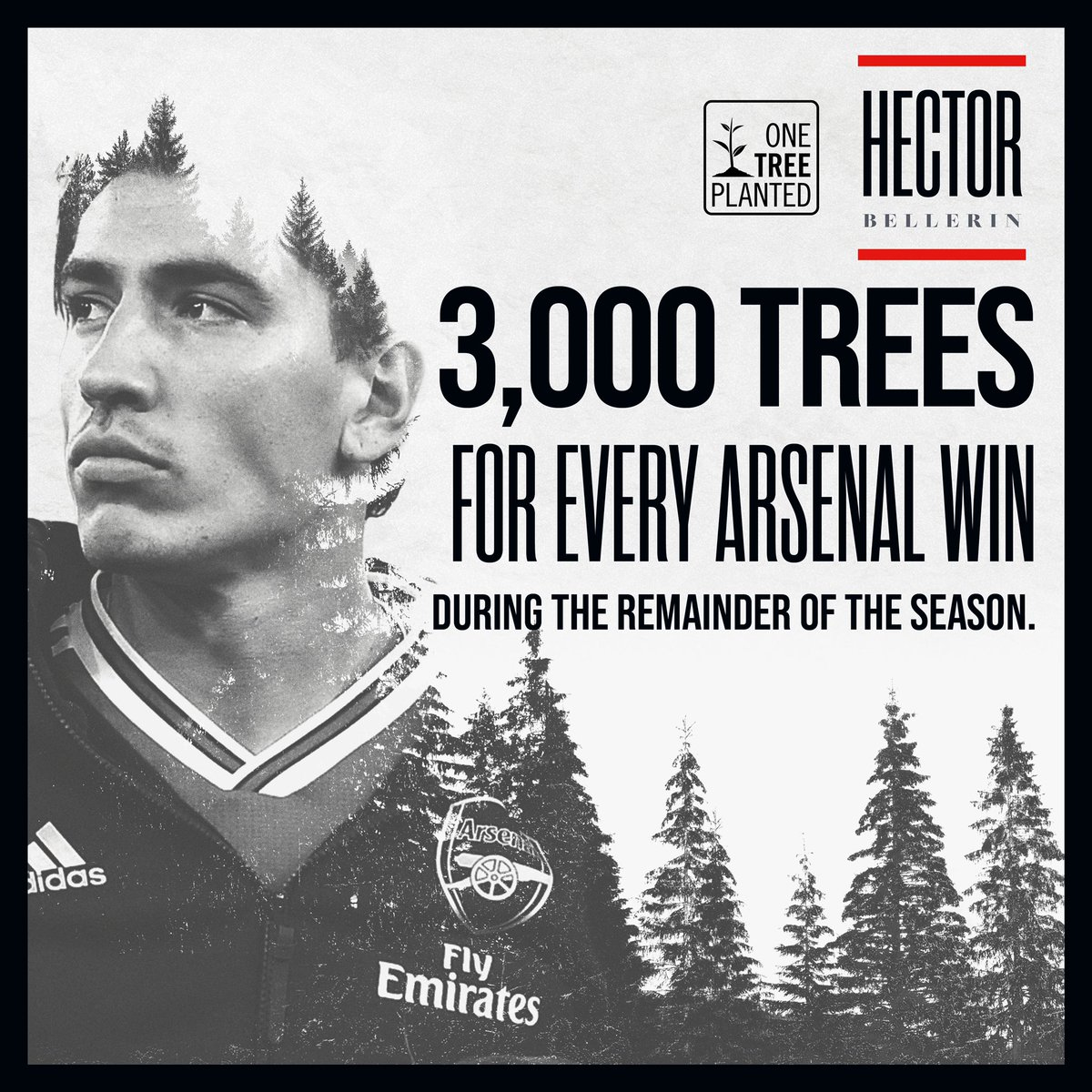 For every @Arsenal game we win this season I will plant 3,000 trees to help combat the carbon emissions issues we have. Follow the link to learn more on how you can get involved by planting a tree with me @onetreeplanted 🌳https://t.co/mQSqqGc7R5 https://t.co/d0J9OGa1jO