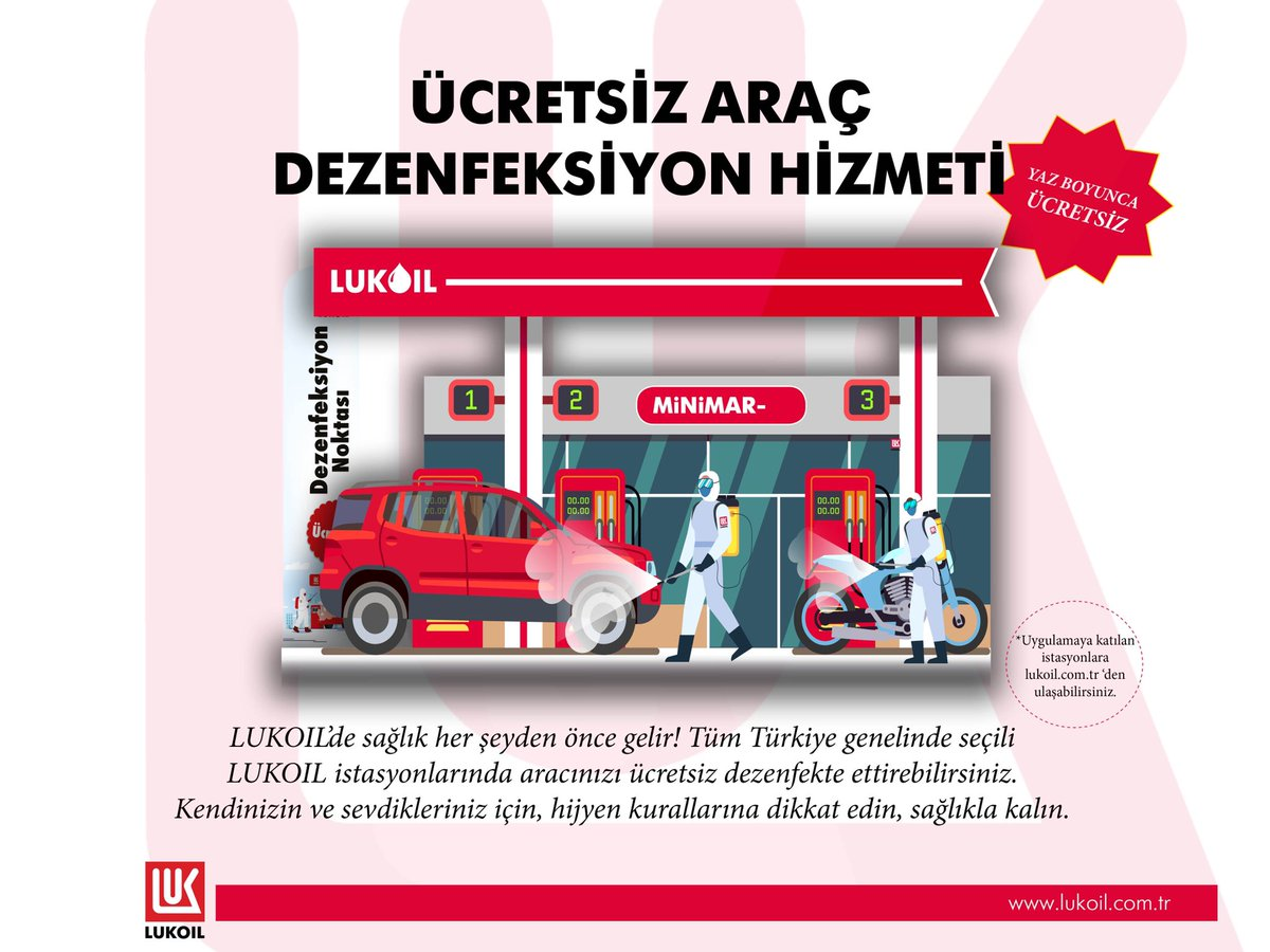 #LUKOIL launched free car disinfection at its fuel stations in Turkey. The service is already available at 50 stations. https://t.co/bQAq5VjPwC