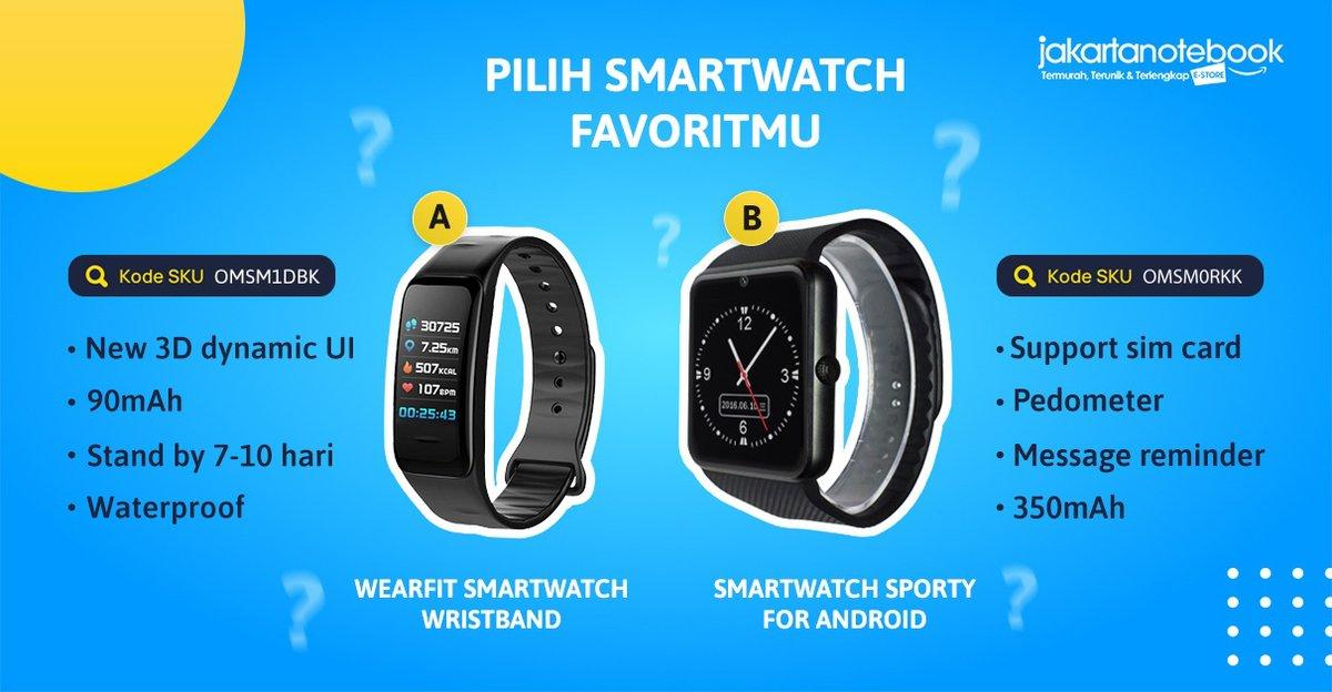Mau pilih yang mana nih Jaknoter?. dua-duanya bisa dibeli dengan harga murah di Promo Elektronik Pilihan nih. Jangan sampai terlewatkan ya! _ Order di sini ya http://bit.ly/tw_elektronik-pilihan-jknt… _ #JakartaNotebook #JualSmartwatch #PilihMana #PromoElektronikPilihanpic.twitter.com/LHTqGuzFnp