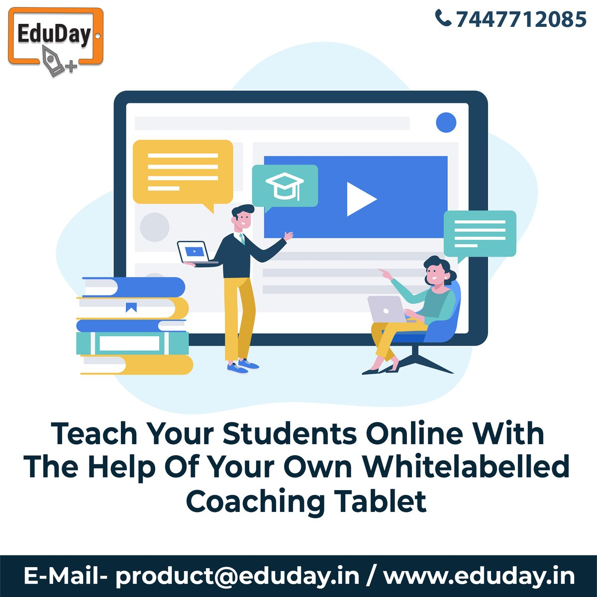 Transform Teaching, Inspire Learning and Deliver a world-class Student Experience.  Get in touch to know more:- Phone : +91 7447712085 E-Mail: product@eduday.in visit:- http://www.eduday.in   #eduday #edudayindia #pune #india #tab #tablets #CoachingInstitute #Coachingclassesspic.twitter.com/70D7wr5vw8