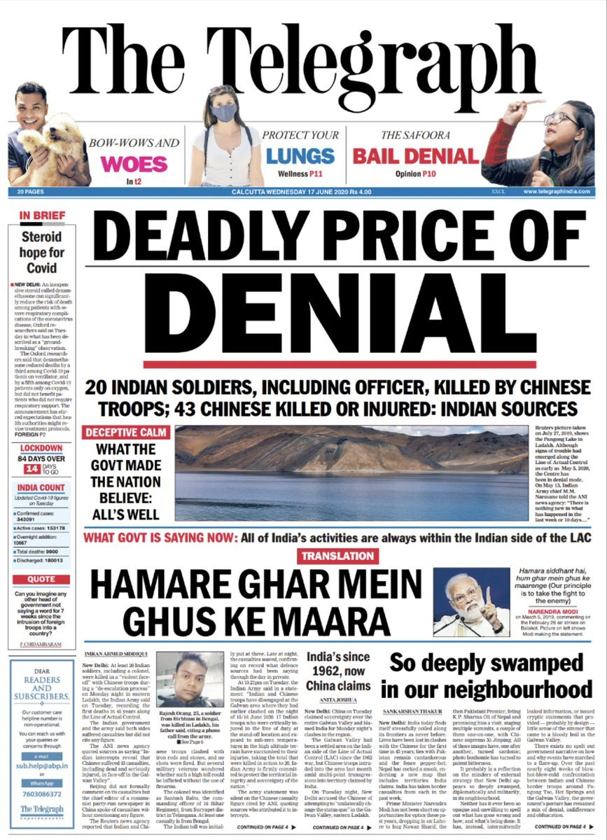 This is an appreciation tweet for @ttindia for keeping journalism alive. Thank you Telegraph.