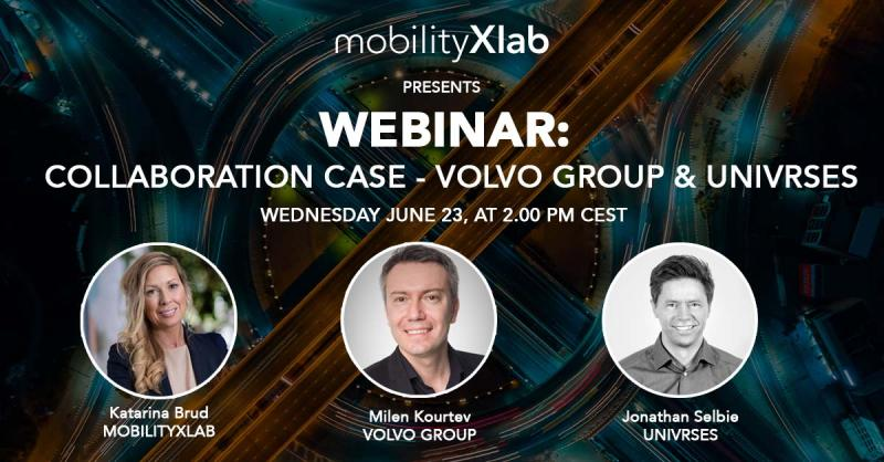 Do you know what great collaborations actually require from startups as well as big corporations? Join this #webinar with Milen Kourtev, Volvo Group and Jonathan Selbie, Univrses moderated by Katarina Brud from @MobilityXlab. June 23rd: https://t.co/kx2jWv0Gyz #MobilityXlab https://t.co/w3gILIA8Ms