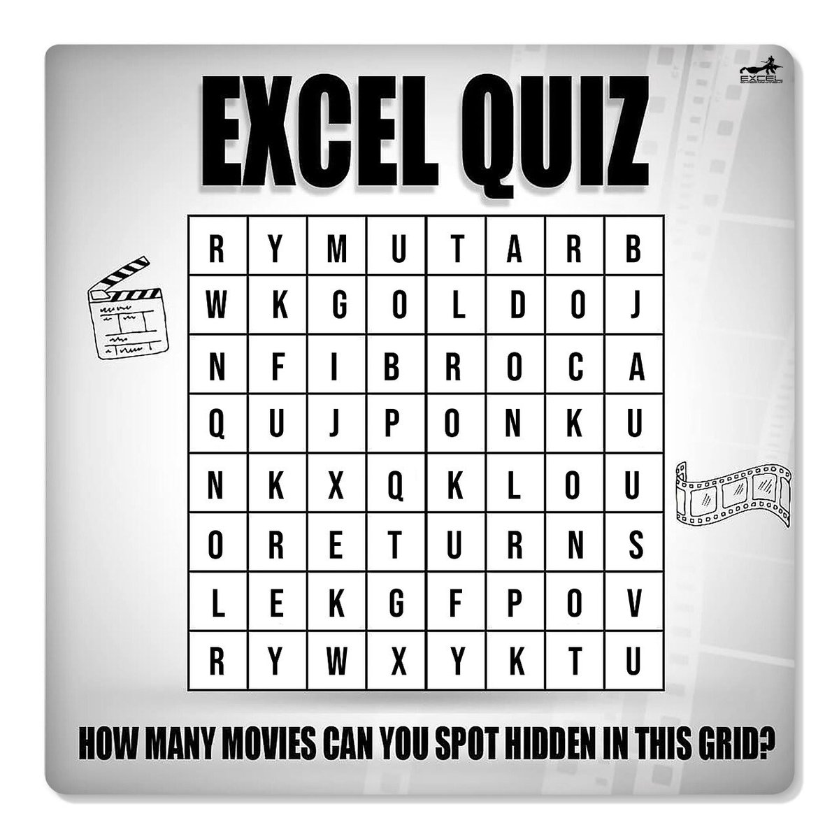 How many films can you spot? #ExcelQuiz   #WednesdayMood https://t.co/9CvgJf2r6p